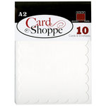 Bazzill Basics - Card Shoppe - Cards and Envelopes - 10 Pack - A2 Scallop - Marshmallow