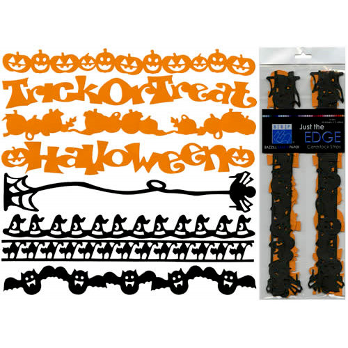 Bazzill Basics - Just The Edge - 12 Inch Cardstock Strips - Halloween