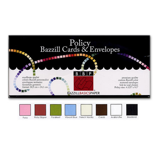 Bazzill Basics - Cards and Envelopes - 45 Pack - Policy