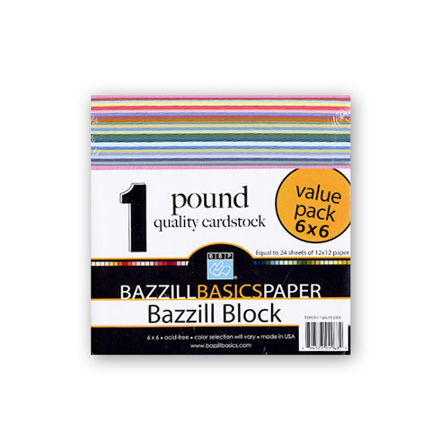 Bazzill Basics - Bazzill Block - 6 x 6 One Pound Cardstock Pack