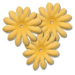 Bazzill Basics - Bitty Blossoms Flowers - Approximately 35 Pieces - Glow