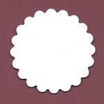 Bazzill Basics - Chipboard Tags - Scalloped Circle, CLEARANCE
