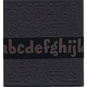 Bazzill Basics - Chipboard Alphabet - Magarita - Black