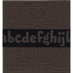 Bazzill Basics - Chipboard Alphabet - Magarita - Brown