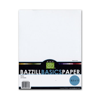 Bazzill Basics - 8.5 x 11 Bazzill White Cardstock Pack (Textured)