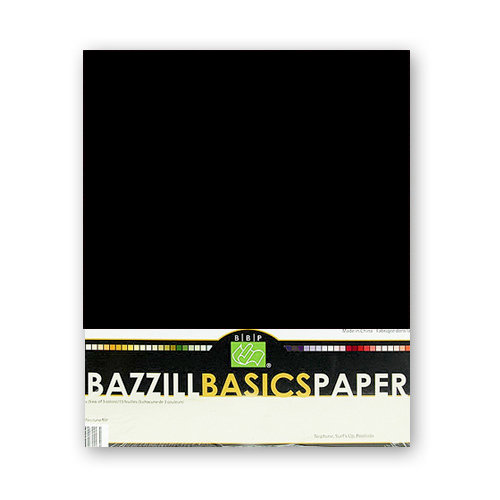 Bazzill Basics - 8.5x11 Black Cardstock Pack