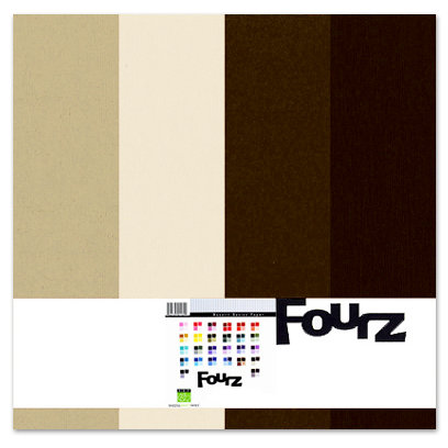 Bazzill - Fourz Multi-Packs - 12 x 12 - Brown