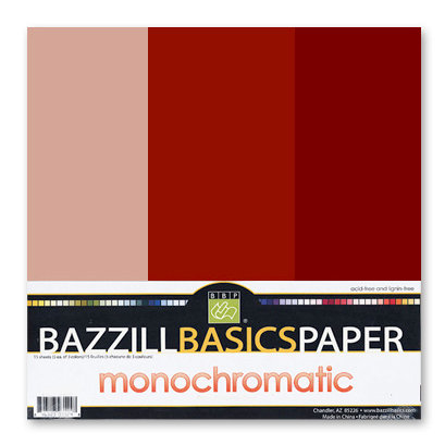 Bazzill - Monochromatic Trio Packs - 12x12 - Cajun
