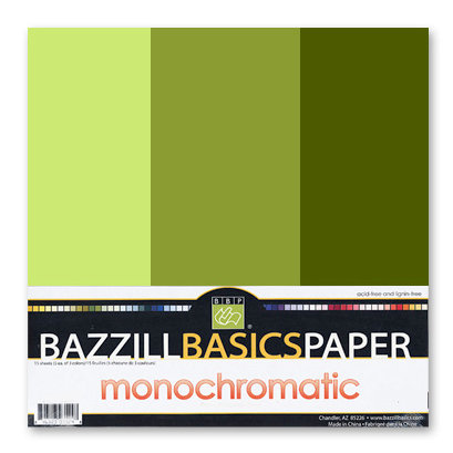 Bazzill - Monochromatic Trio Packs - 12x12 - Hillary