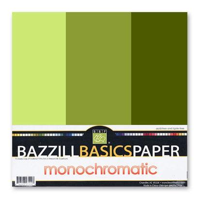 Bazzill - Monochromatic Trio Packs - 12x12 - Hillary