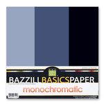 Bazzill Basics - Monochromatic Trio Packs 12x12 - Nightmist Trio, CLEARANCE