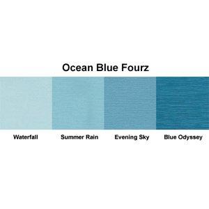 Bazzill Basics - Fourz Multi-Packs - 8.5 x 11 - Ocean Blue