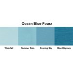 Bazzill Basics - Fourz Multi-Packs - 8.5 x 11 - Ocean Blue