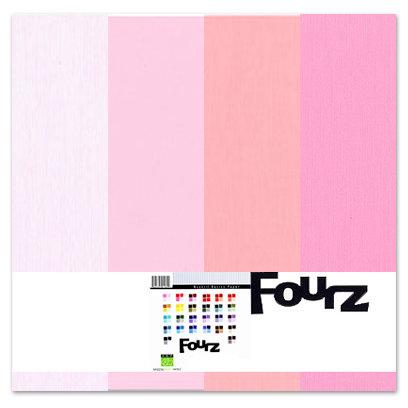 Bazzill - Fourz Multi-Packs - 12 x 12 - Pink