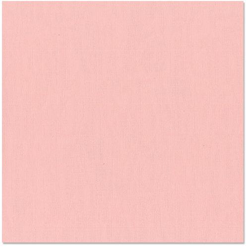 Bazzill Basics - 12 x 12 Cardstock - Canvas Texture - Blossom
