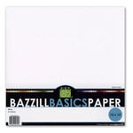 Bazzill - Bulk Textured Cardstock Pack - 25 Sheets - 12 x 12 - White