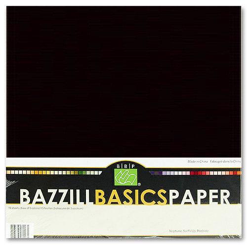 Bazzill Basics - Bulk Cardstock Pack - 25 Sheets - 12 x 12 - Black