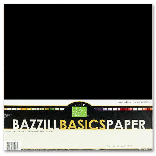 Bazzill Basics - Bulk Cardstock Pack - 25 Sheets - 12 x 12 - Raven