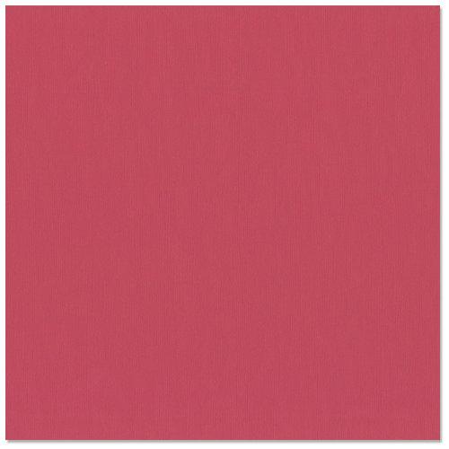 Bazzill Basics - 12 x 12 Cardstock - Burlap Texture - Ruby Red