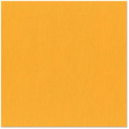 Bazzill - 12 x 12 Cardstock - Canvas Texture - Cheddar