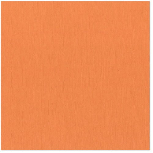 Bazzill - 12 x 12 Cardstock - Grasscloth Texture - Cool Cantaloupe