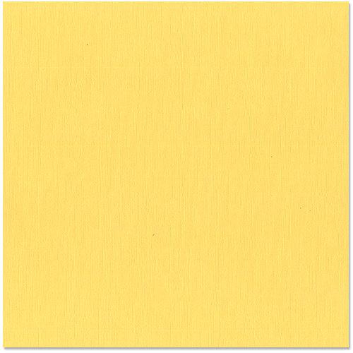 Bazzill Basics - 12 x 12 Cardstock - Canvas Texture - Lemonade