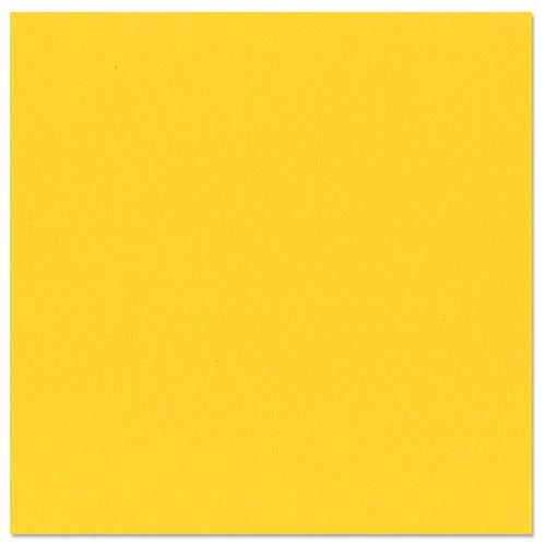 Bazzill Basics - 12 x 12 Cardstock - Canvas Texture - Yellow