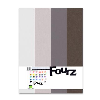 Bazzill - Fourz Multi-Packs - 8.5 x 11 - Warm Gray