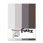 Bazzill - Fourz Multi-Packs - 8.5 x 11 - Warm Gray