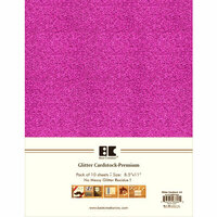 Best Creation Inc - A4 Glitter Cardstock Packs - Rose