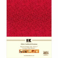 Best Creation Inc - A4 Glitter Cardstock Packs - Red
