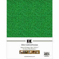 Best Creation Inc - A4 Glitter Cardstock Packs - Green