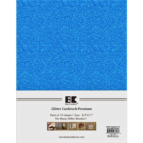 Best Creation Inc - A4 Glitter Cardstock Packs - Ocean Blue