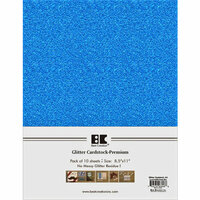 Best Creation Inc - A4 Glitter Cardstock Packs - Ocean Blue