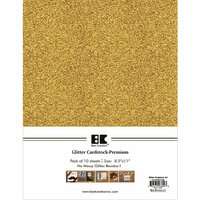 Best Creation Inc - A4 Glitter Cardstock Packs - Gold