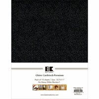 Best Creation Inc - A4 Glitter Cardstock Packs - Black