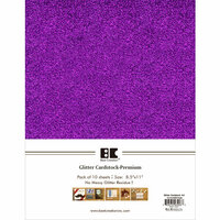 Best Creation Inc - A4 Glitter Cardstock Packs - Purple