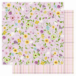 Best Creation Inc - A Walk in the Garden Collection - 12 x 12 Double Sided Glitter Paper - Spring Flowers