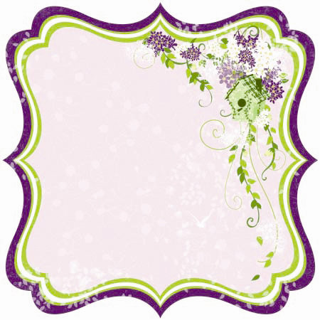 Best Creation Inc - A Walk in the Garden Collection - 12 x 12 Die Cut Glitter Paper - Sweet Home