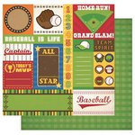 Best Creation Inc - Baseball Collection - 12 x 12 Double Sided Glitter Paper - Team Tags