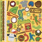 Best Creation Inc - Baseball Collection - Glitter Cardstock Stickers - Element