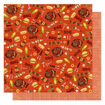 Best Creation Inc - Barbeque Collection - 12 x 12 Double Sided Glitter Paper - Time to Eat