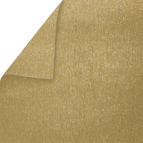 Best Creation Inc - 12 x 12 Double-Sided Brushed Metal Paper -Bright Gold