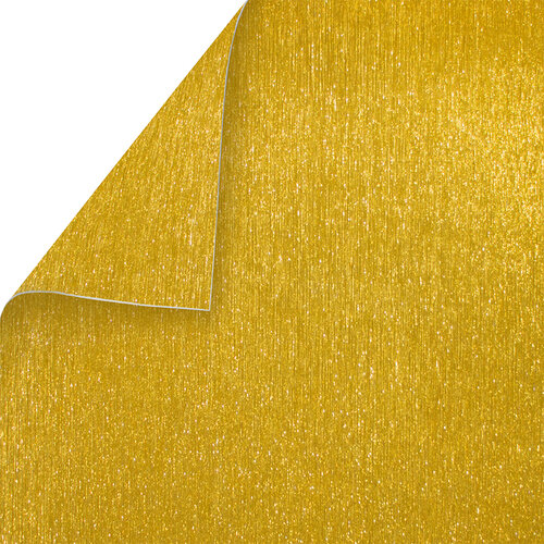 Best Creation Inc - 12 x 12 Double-Sided Brushed Metal Paper - Gold