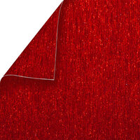 Best Creation Inc - 12 x 12 Double-Sided Brushed Metal Paper - Red