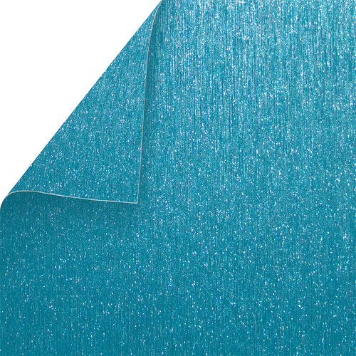 Best Creation Inc - 12 x 12 Double-Sided Brushed Metal Paper - Sky Blue