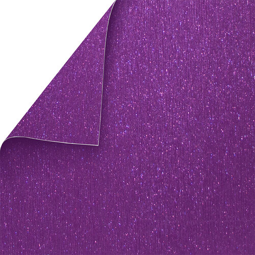 Best Creation Inc - 12 x 12 Double-Sided Brushed Metal Paper - Purple