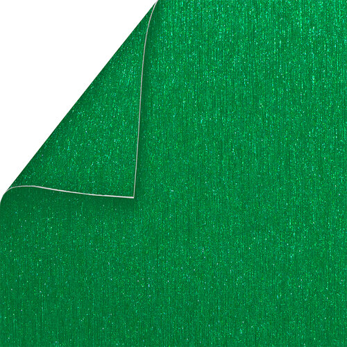 Best Creation Inc - 12 x 12 Double-Sided Brushed Metal Paper - Green