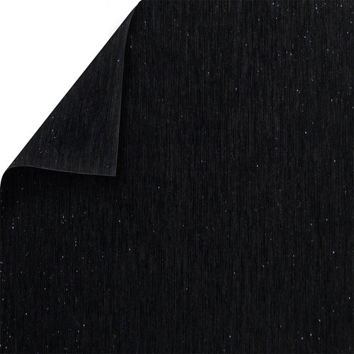 Best Creation Inc - 12 x 12 Double-Sided Brushed Metal Paper - Black
