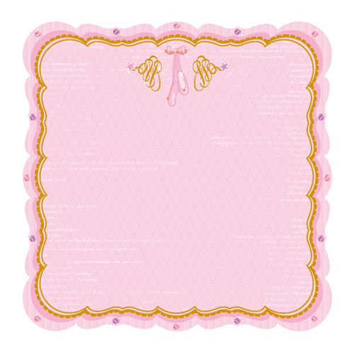 Best Creation Inc - Ballet Princess Collection - 12 x 12 Die Cut Glitter Paper - Magical Slippers